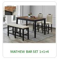 MATHEW BAR SET 1+1+4